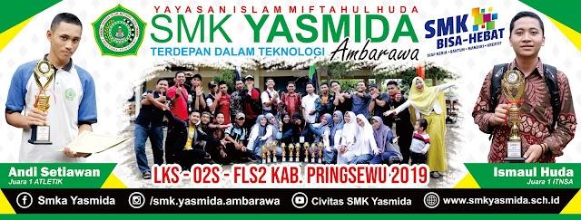 Desain Banner Juara Sekolah SMK Yasmida Ambarawa