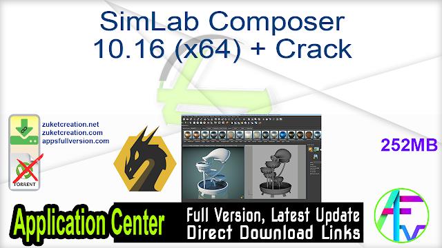 SimLab Composer 10.16 (x64) + Crack