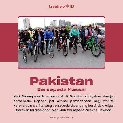 Pakistan  Bersepeda Massal