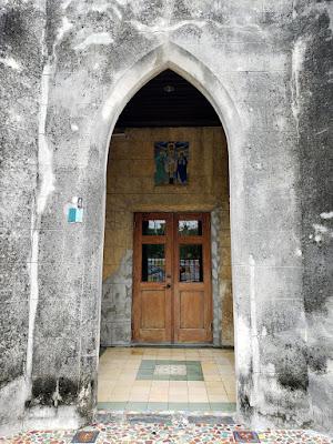 Aged church door