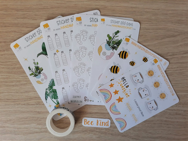 A collection of all the sticker sheets and tape that I used for the bullet journal project!