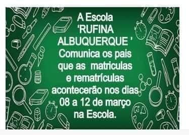 Atenção pais de alunos da Escola Rufina Alburquerque na Mata do Brigadeiro em Mata Roma