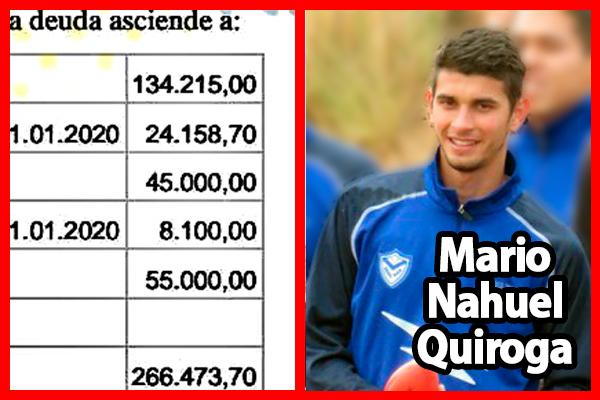 Nahuel Quiroga demanda al Club