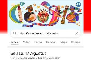 Google Doodle Hari Ini Muncul Turut Peringati Hari Kemerdekaan Indonesia 2021