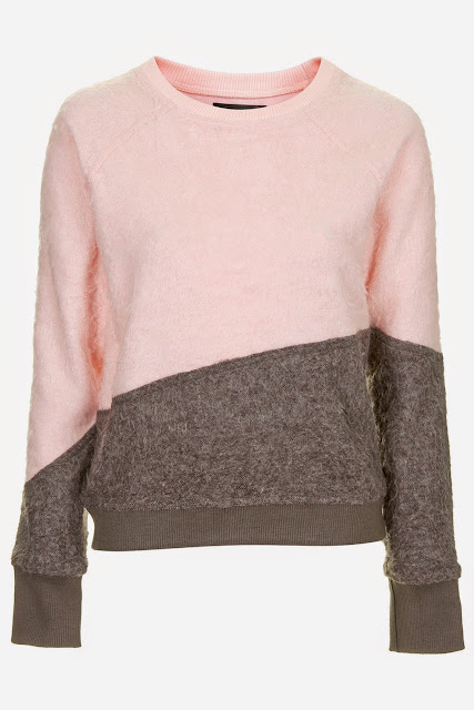 pink grey jumper