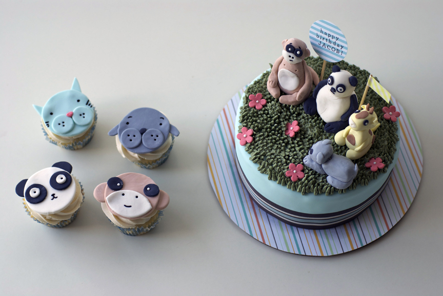 Cute Animal Cakes For Little Jacob Coco Cake Land