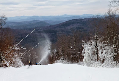 First runs of the season on Sunway, at Gore Mountain, Sunday 11/16/2014.  The Saratoga Skier and Hiker, first-hand accounts of adventures in the Adirondacks and beyond, and Gore Mountain ski blog.