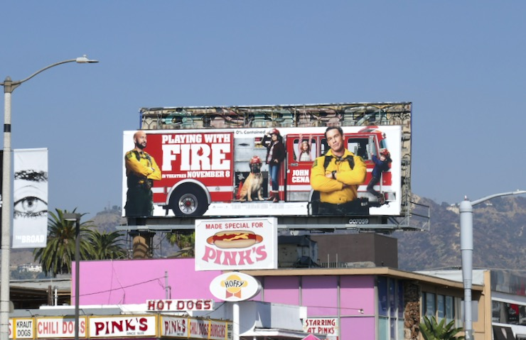 Playing With Fire film billboard
