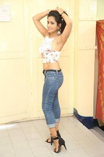 Deekshita Parvathi in a short crop top and Denim Jeans Spicy Pics Beautiful Actress Deekshita Parvathi January 2017 CelebxNext (224).JPG