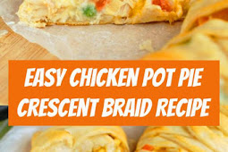 Chicken Pot Pie Crescent Braid #chicken #dinner