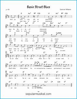 chord basin street blues lagu jazz standar