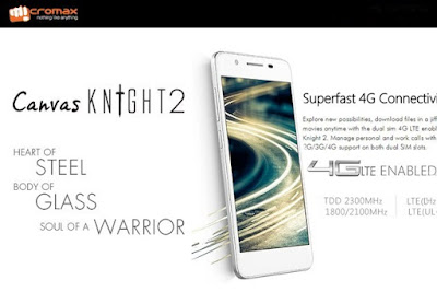MicromaxCanvas Knight 2:5 inch HD AMOLED Android Lollipop Phone Specs, Price