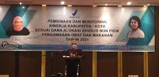 Pj Gubernur Jambi Secara Resmi Membuka Pembinaan Dan Monitoring Kinerja Kabupaten Kota Sesuai DAK Non Fisik Pengawasan Obat Dan Makanan.