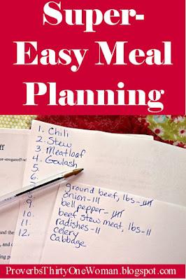 Easy Menu Planning