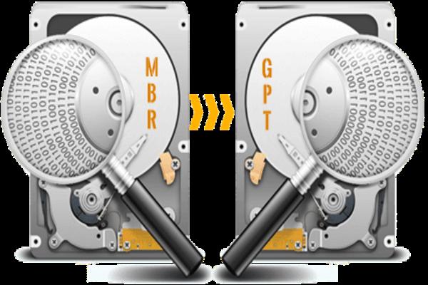 طريقة تحويل القرص الصلب من MBR لـ GPT والعكس