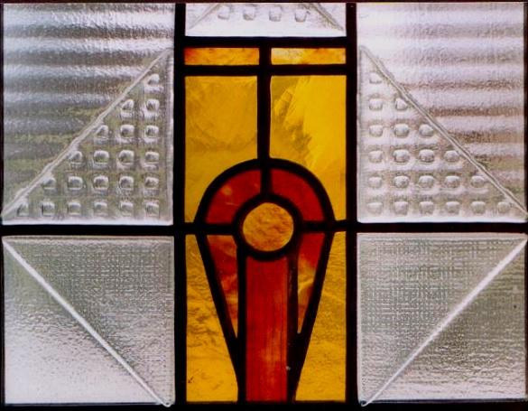 detail vitráž do dveří
