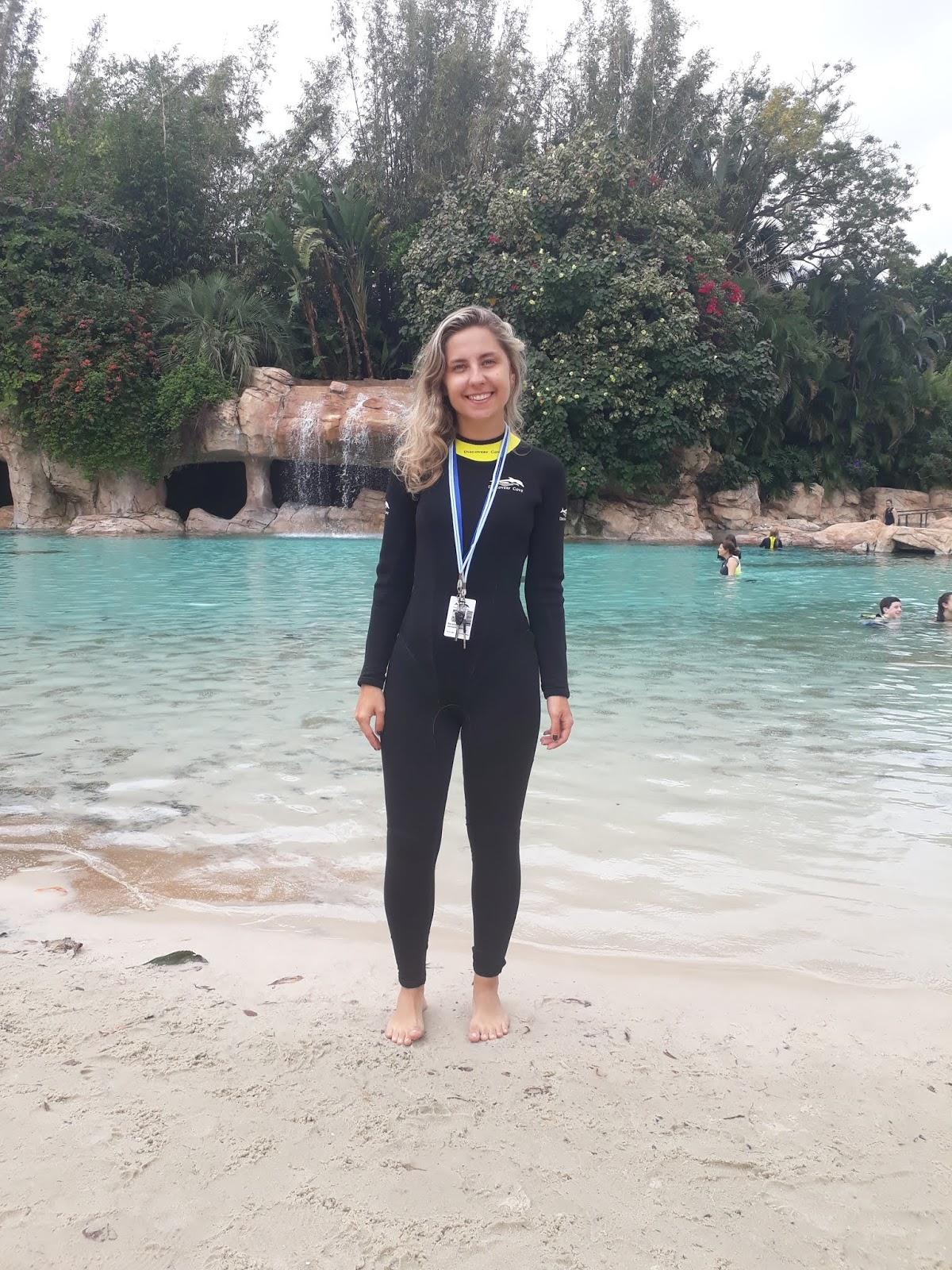 Mergulhei com as raias - Discovery Cove!