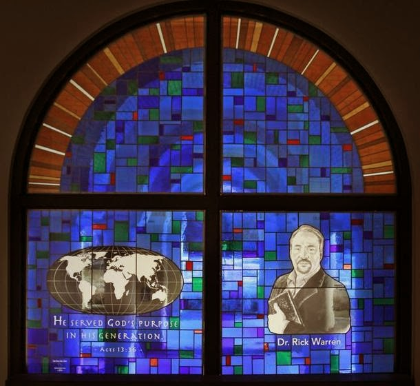 rick warren stained glass window