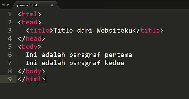 Cara Membuat Paragraf di HTML