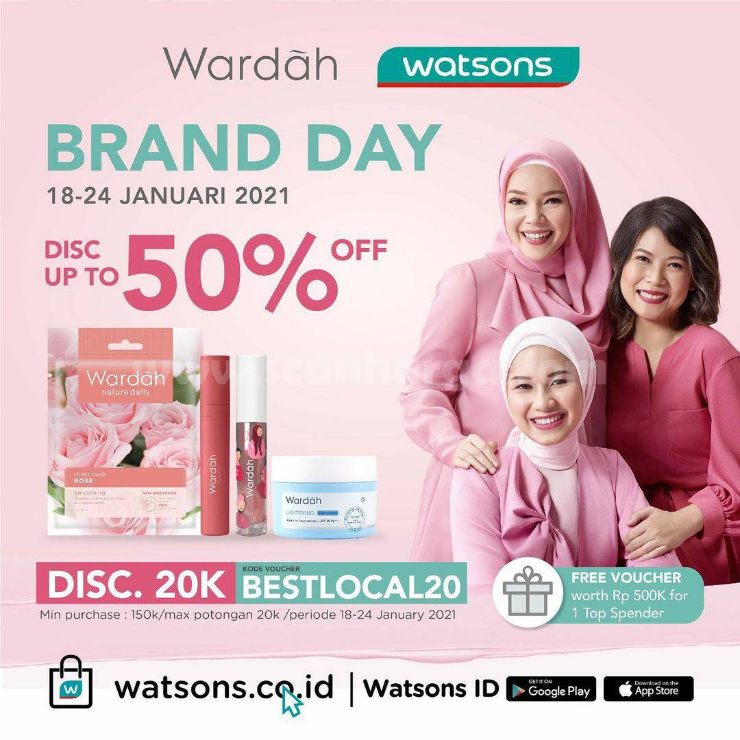 WATSONS Promo Brand Day With WARDAH – Discount up to 50% Off