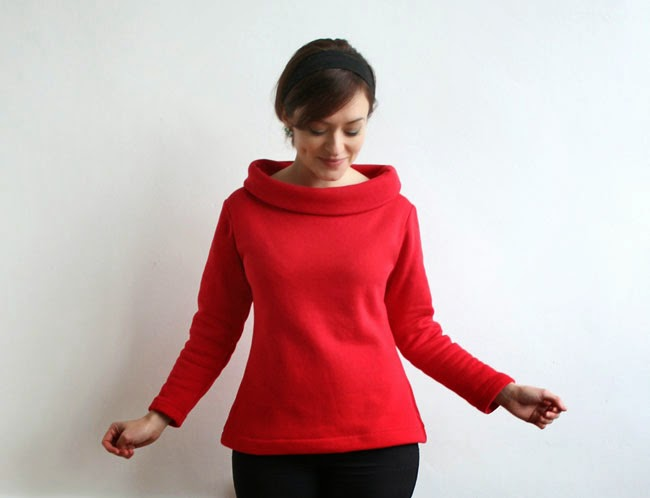 Snuggly sweatshirt Coco top - Tilly and the Buttons sewing pattern