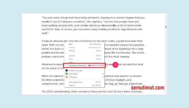 cara mengaktifkan auto translate pada google chrome