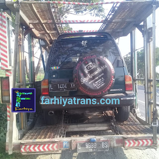jasa pengiriman mobil surabaya jakarta dengan car carrier towing murah cepat