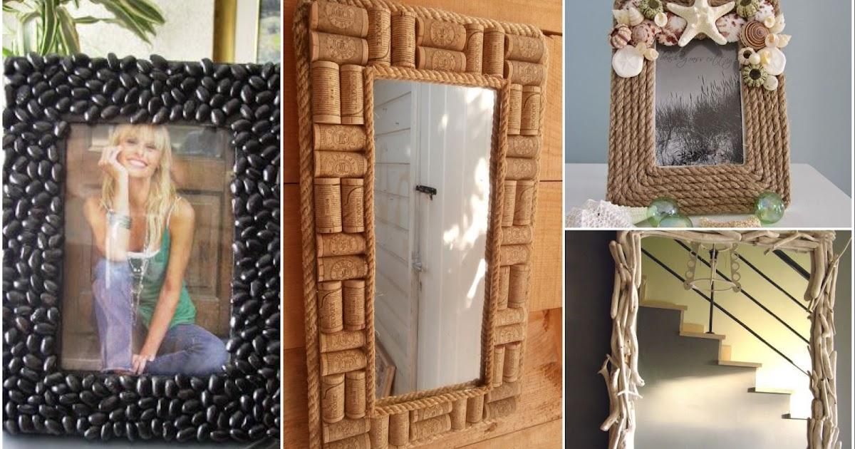 C mo decorar marcos para fotograf as con diferentes for Marcos decorados para espejos