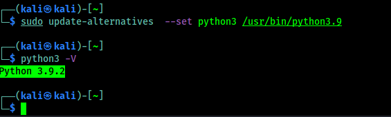 python3 latest version set as default