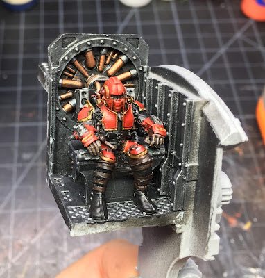 House Taranis Knight Scion WIP - on the throne