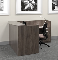 artisan grey reception desk sl-o