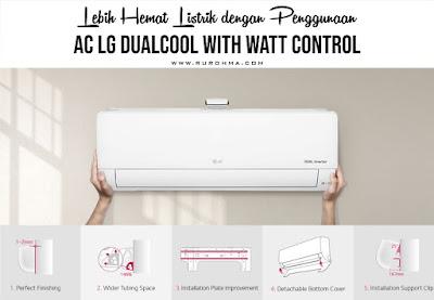 Lebih Hemat Listrik dengan Penggunaan AC LG DUALCOOL with Watt Control