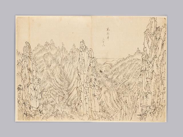 해동명산도첩(海東名山圖帖) 중 만물초(萬物草),  김홍도, 조선, 1788년경  종이에 먹