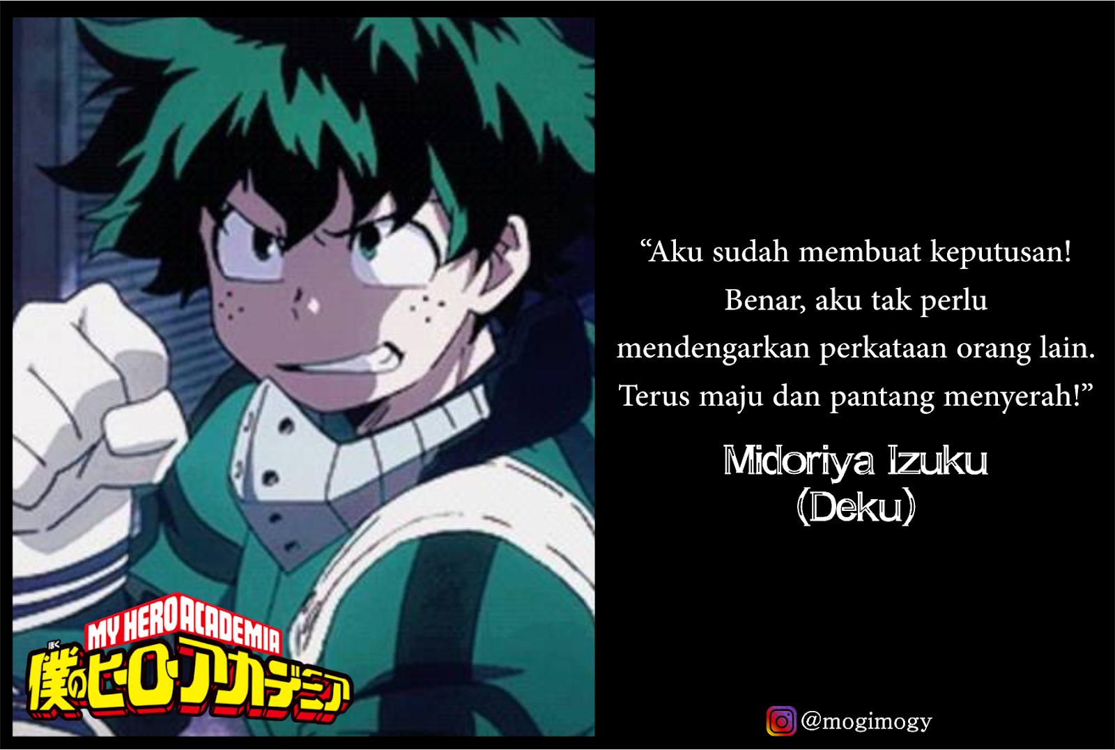 20 Kata Kata Bijak Anime Boku No Hero Academia Mogimogy