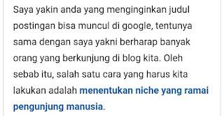 cara agar judul artikel blog muncul di pencarian google