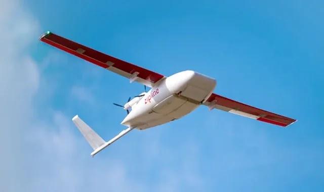 Zipline drones transporting Corona vaccines