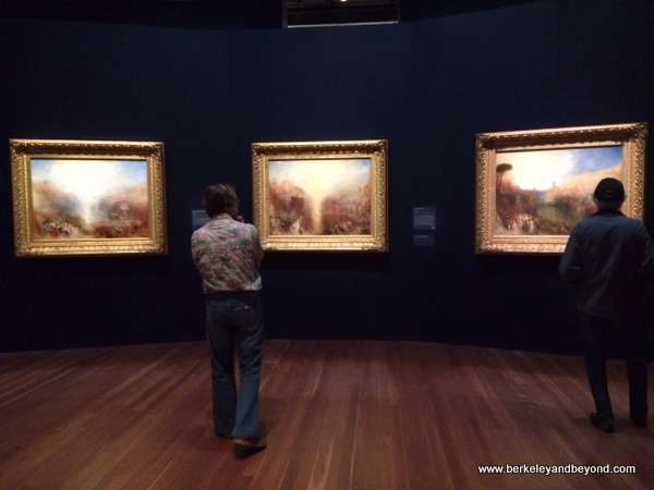 three paintings Turner working on concurrently just before he died; Turner exhibit at the de Young Museum in San Francisco