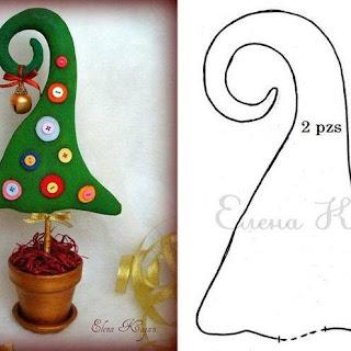 gorro de Elfo más sencillo, hecho con fieltro
