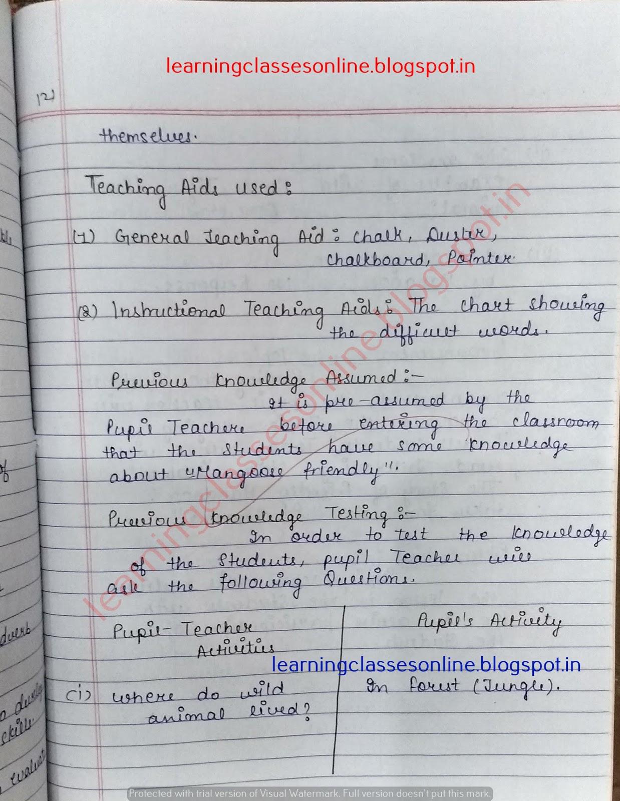 prepared lesson plan in english,