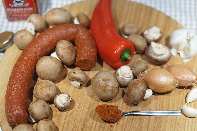 Chorizo-Paprika-Quiche-Zutaten