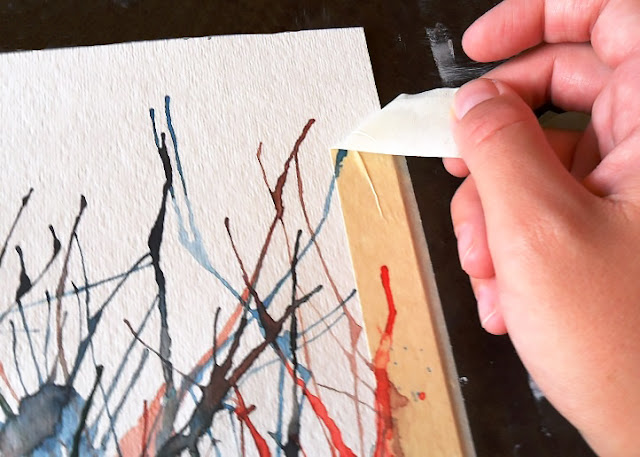 Straw Painting Art Tutorial