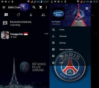 BBM Mod Paris Saint Germain 3.0.0.18 Terbaru