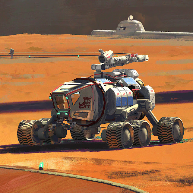SpaceX rover at Mars Base Alpha