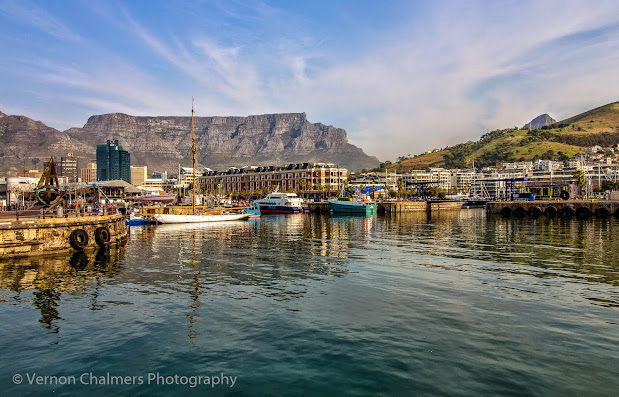 Copyright Vernon Chalmers - Table Mountain from the V&A Waterfront Cape Town