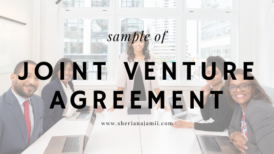 JOINT VENTURE AGREEMENT sample examples