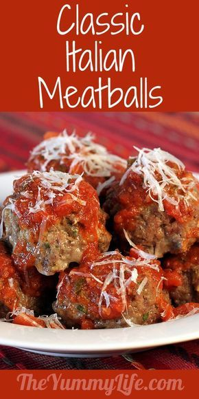 Easy and Classic Italian Meatballs