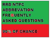 Previously Asked Abbreviation questions for RRB NTPC