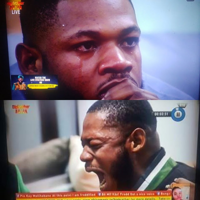 Frodd breaks down in tears as Esther gets evicted from the house