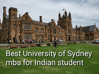 Best University of Sydney MBA for Indian in hindi