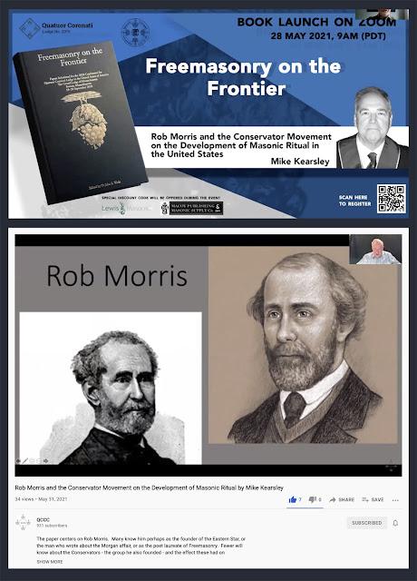 Quatuor Coronati Lodge. Lecture on Rob Morris and the Conservator Movement. Portrait by Travis Simpkins